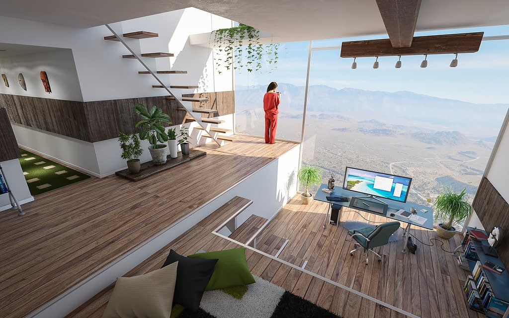 dreamed home office space