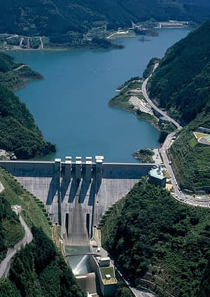 visual of a dam (Photo courtesy of Obayashi)