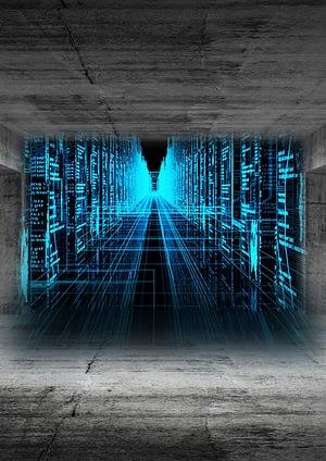 wall of virtual KPI data