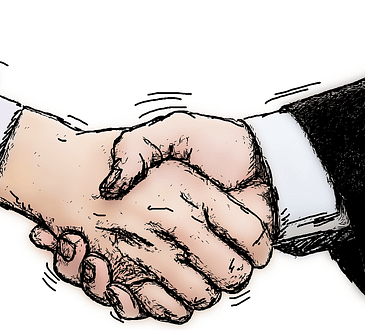 shaking hands negotiations