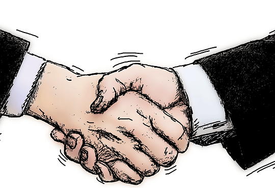 shaking hands negotiations