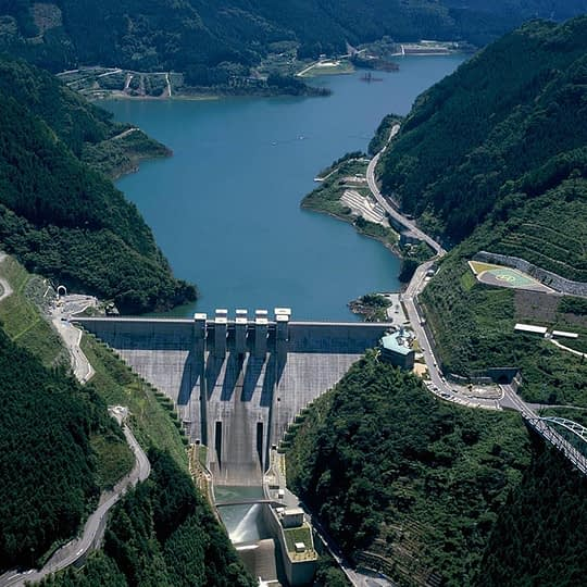 visual of a dam (Photo courtesy of Obayashi)
